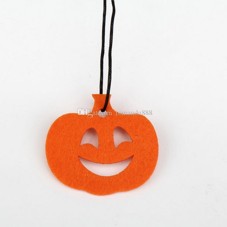 DHL Livraison Gratuite Halloween Décoration Pendaison Hangtag Halloween Fenêtre Décoration porte plaque Citrouille Bat Ghost Crâne Suspendu Bandes