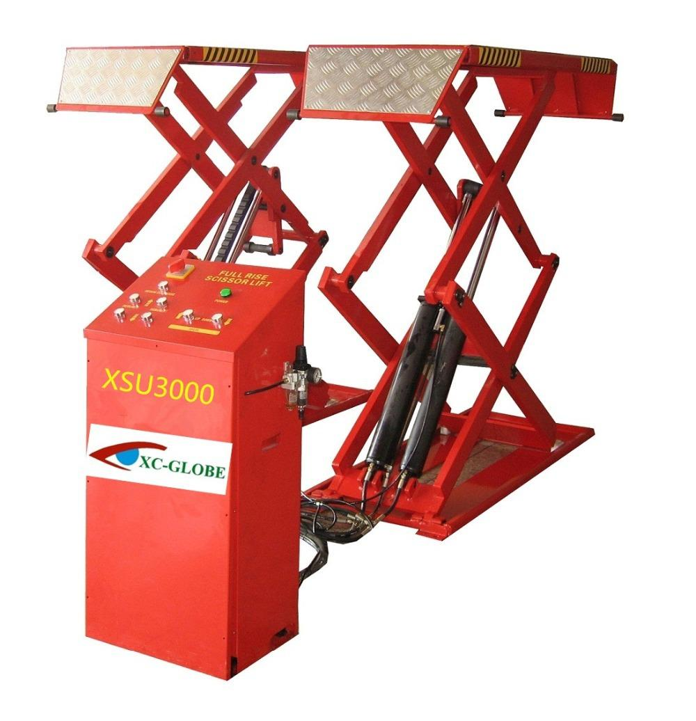 2017 new design ultrathin scissor car lift 3000kgs