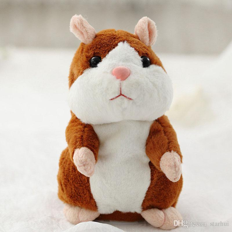 15 CM Sprechen Hamster Plüsch Party Spielzeug Sprechen Schallplatte Hamster Plüschtier Kinder Kind Weihnachtsgeschenke 3 Farbe WX9-80
