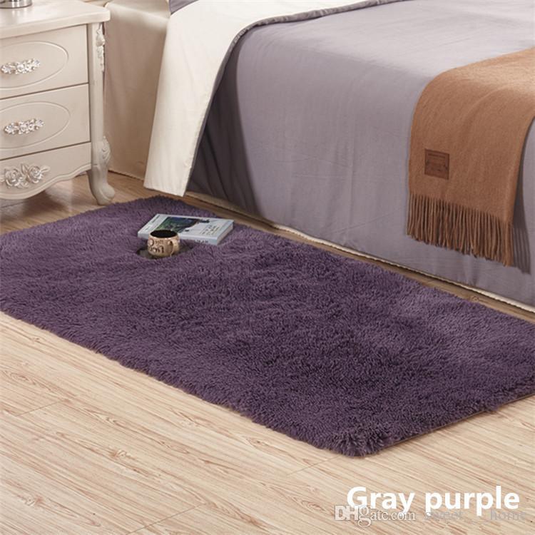 Großhandel 2017new Flauschige Teppiche Anti Rutsch Shaggy Bereich Teppich  Esszimmer Home Schlafzimmer Teppich Bodenmatte, 14 Farben, ...