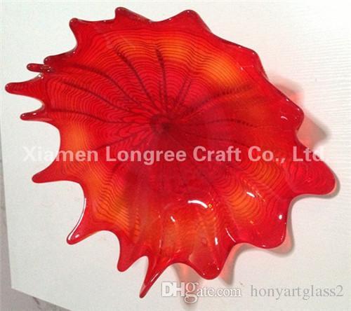 Multi Color soplado hecho a mano placas de pared de cristal de borosilicato certificado UL del CE colgante de cristal Placas arte decorativo de la pared