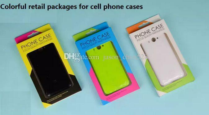 Cell Phone Cases Retail Box Package Colorful fashion retail packages paper blister box for iphone 6S 7 plus cell phone case cover package