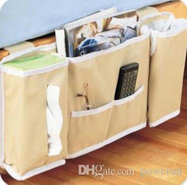 Bedside Storage 2017 bedside caddy, pocket bedside storage bag hang sundries