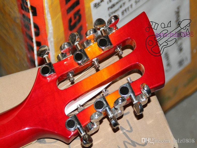 Cherry Burst 12 Strings 325 330 Guitare électrique 3 Micros de haute qualité Instruments de musique