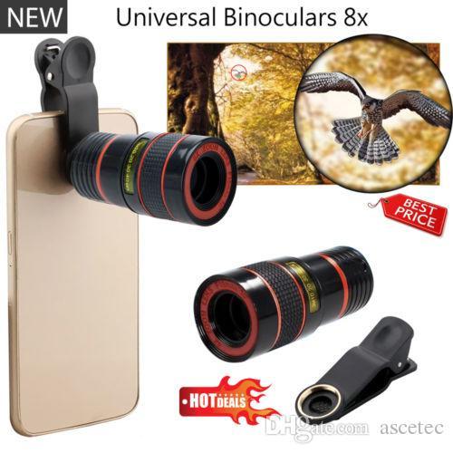 8x Zoom ottico HD Telescopio Obiettivo iPhone 7 7 plus 6 6s Samsung Note 7 S7 Obiettivo universale telefono cellulare