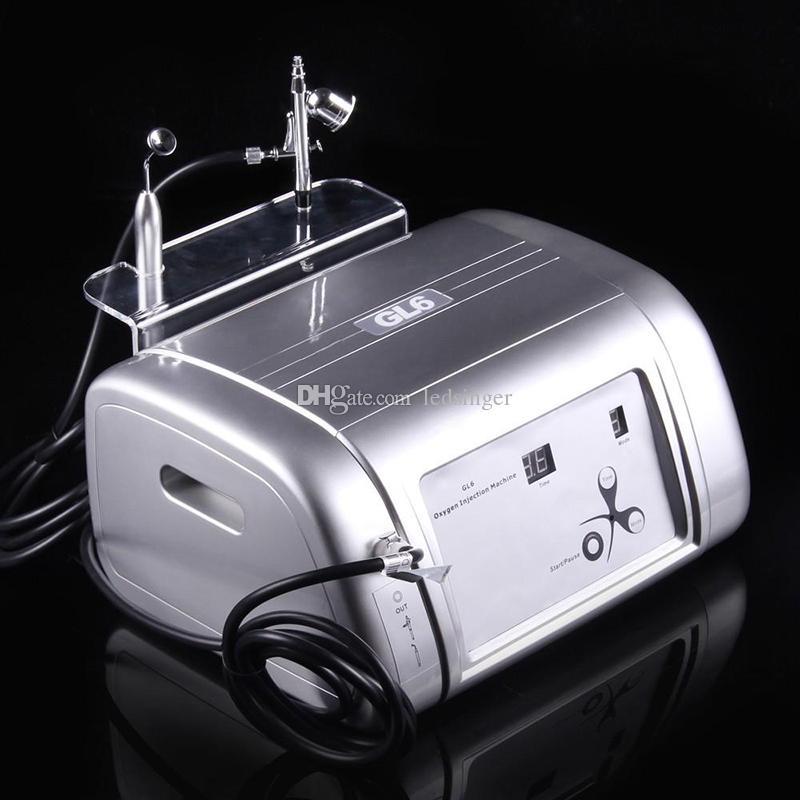 الأكسجين المهنية حقن رذاذ الوجه آلة الجمال O2 الأوكسجين البشرة طائرة تقشير الجلد آلة تجديد للاستخدام المنزلي