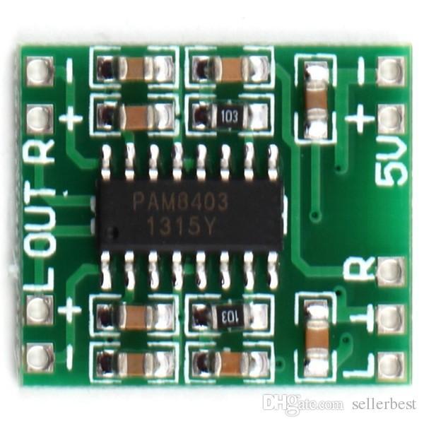Channels 3W Digital Power PAM8403 Class D Audio Module Amplifier Board USB  DC 5V Mini Class-D Digital Amplifier Board LCD