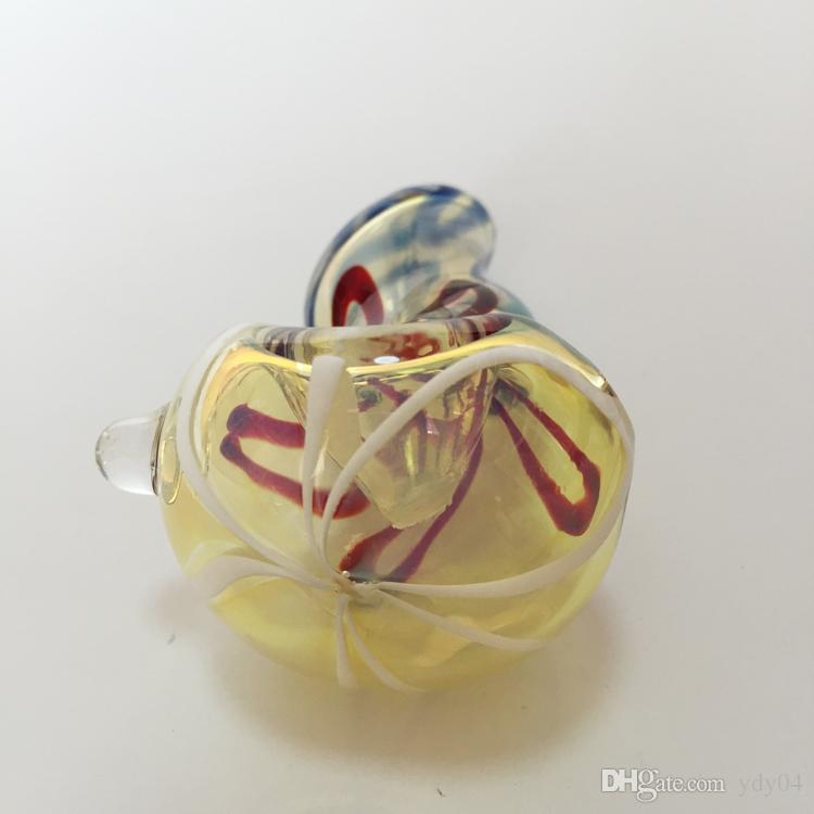 흡연 핸드 파이프의 새로운 유리 파이프 길이에서 약 7.5cm 길이의 멋진 다채로운 외관 유리 파이프 담배 기화기