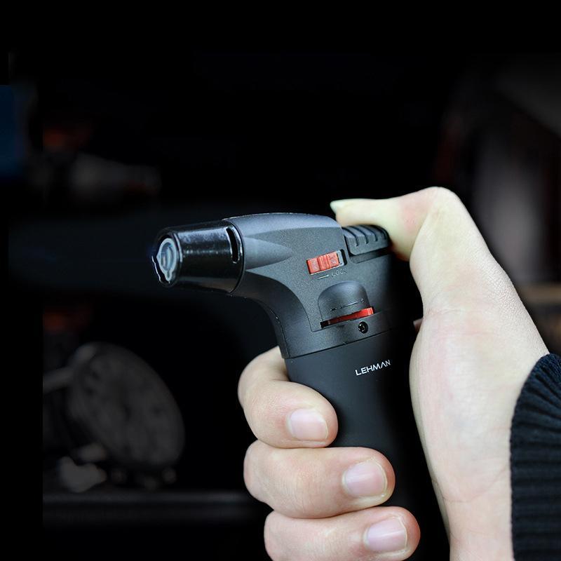 New hot personnalité de haute qualité créatif en plastique coupe-vent briquet portable jet torche briquet cigare pistolet briquet