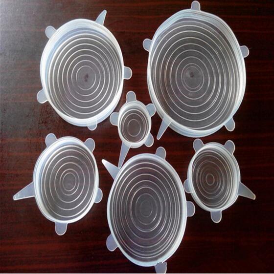 Neu Kommen Universal Silikon Saugdeckel-Schüssel Pfanne Kochtopf Deckel-Silikon Stretch Deckel Silikon Abdeckung Küche Pfanne Überlauf Deckel Stopper Deckel