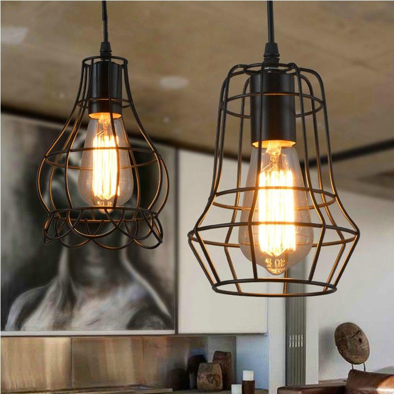 Grosshandel Edison Vintage Lampe Schmiedeeisen Anhanger Beleuchtung