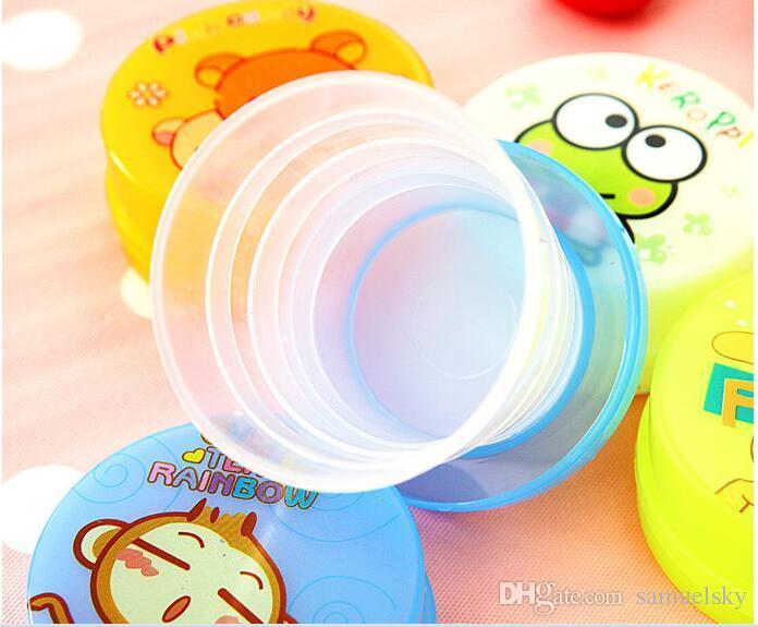 NOVA moda criativa criança dos desenhos animados adorável mini copo estiramento Dobrável copo de água camping piquenique portátil copo do dia das Crianças de presente 100 ML de água