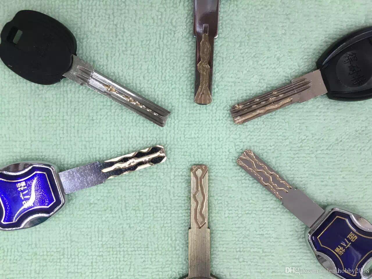 Newest super padlock Crescent-Shaped Double Side Lockpick Practice Padlock Crescent Lockpick Practice Padlock Training Tool for Locksmith