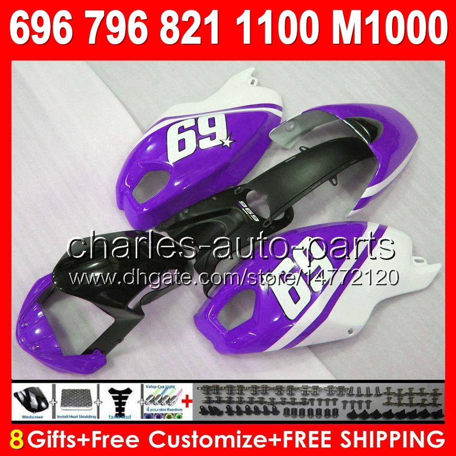 8gifts 69# new for ducati 659 696 795 796 797 08 09 10 11 12