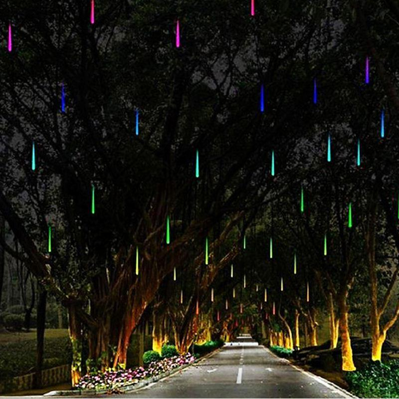 2019 Multi Color 30CM Meteor Shower Rain Tubes AC100 240V LED Christmas Lights Wedding Party ...