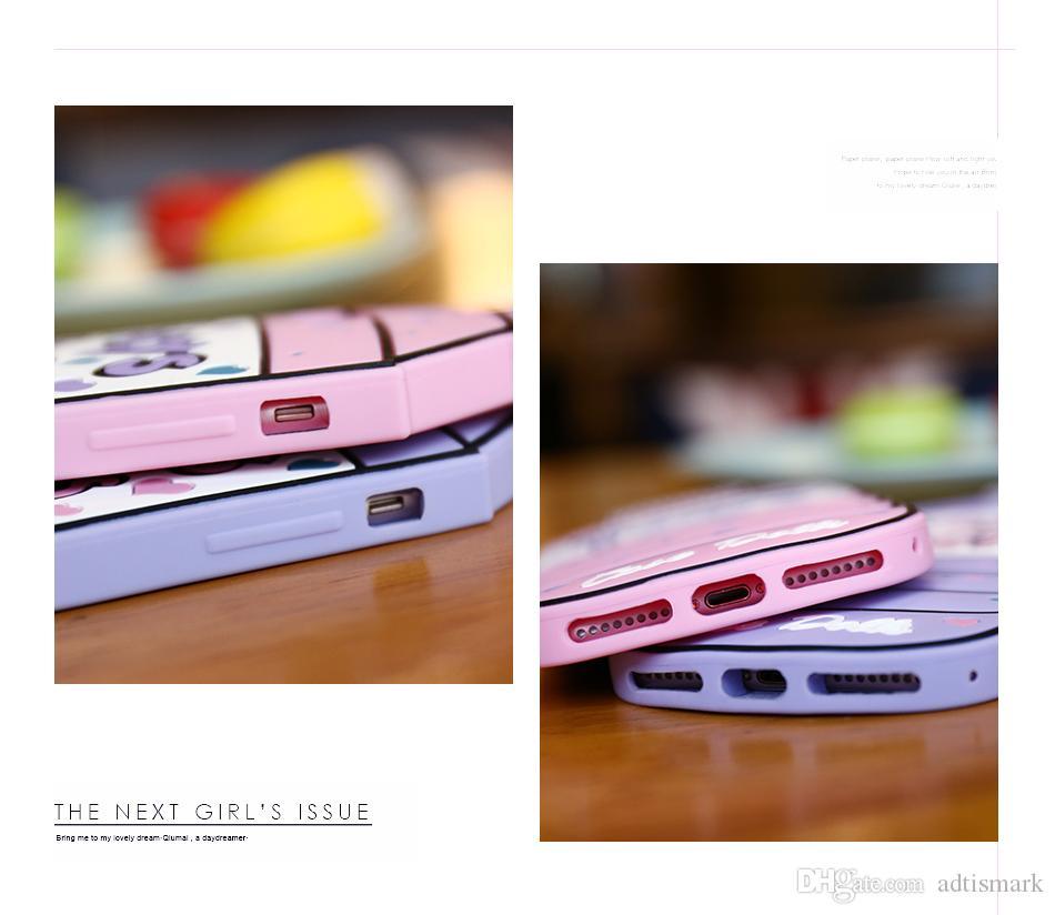 Caja suave del gel de silicona para el iPhone 6 7 7 6S Plus 5 5S SE agua 3D de dibujos animados botella de teléfono para el iPhone 5 6 7 6S caja linda
