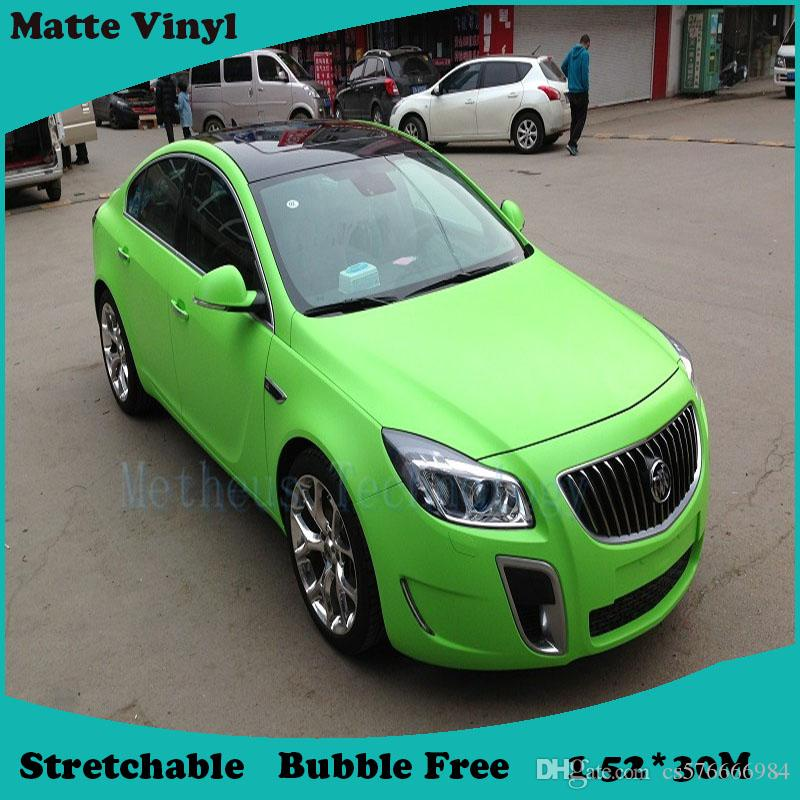 2018 New 1 52x30m Matte Apple Green Car Auto Body Sticker Decal