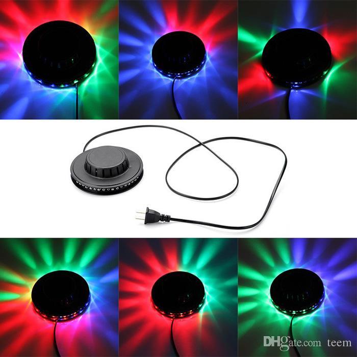 X100 dhl sunning ضوء rgb الإضاءة 48 المصابيح كامل اللون led كريستال المرحلة ضوء السيارات الدورية المرحلة تأثير dj مصباح مصغرة المرحلة ضوء لمبة