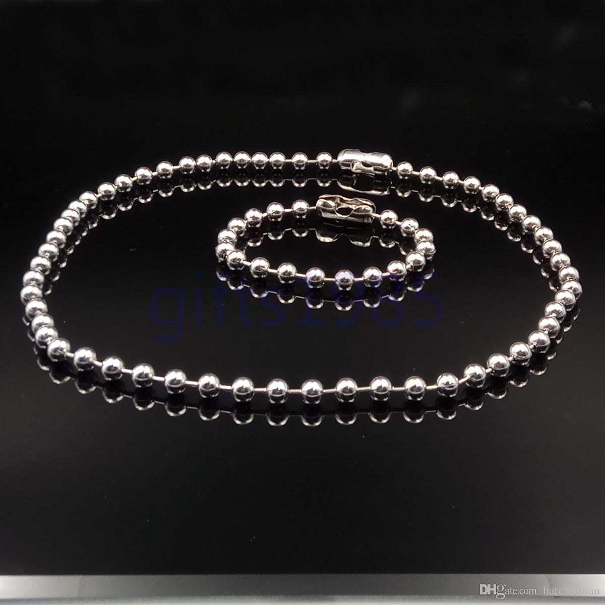 Мужская цепь 6 мм из нержавеющей стали большой шар 26 дюймов ожерелье и 9 дюймов браслет набор