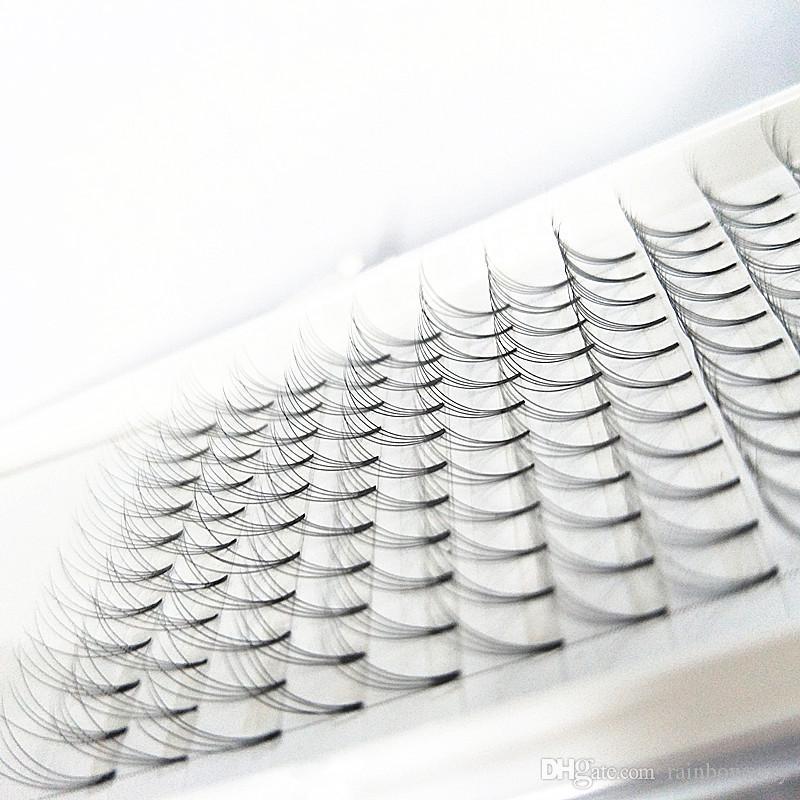 2017 nouveaux styles chaud vente cil fabrication ventilateurs 3D premade le volume prefanned cil extension de cils tige courte