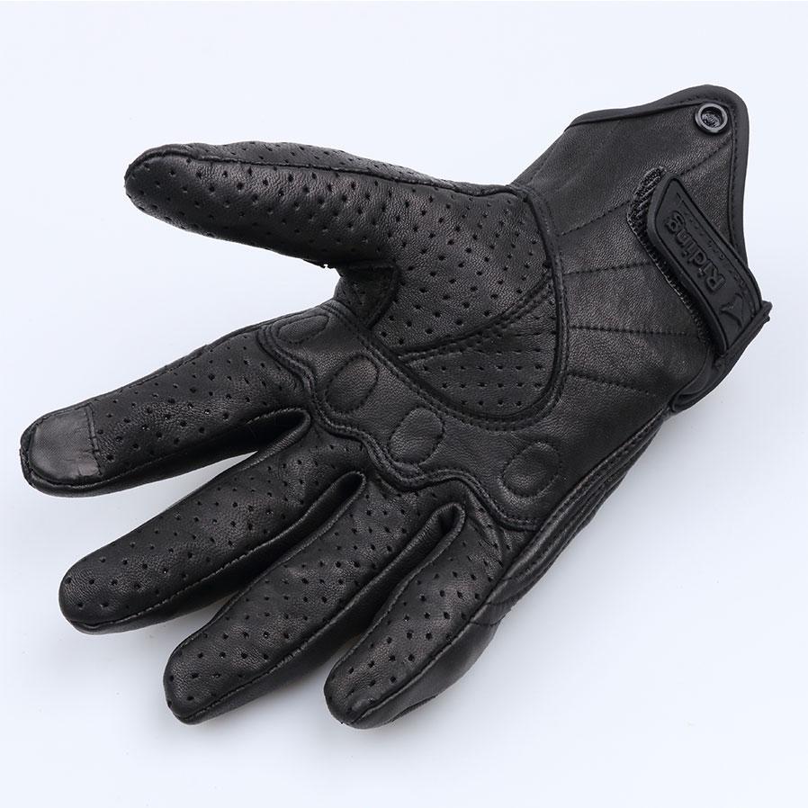Wholesale Universal Glove Real Leather Full Finger Black Moto Men