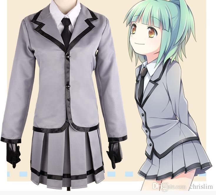 Japanese Anime Assassination Classroom Cosplay for teenager Kayano Kaede Costume Female Student Uniform Coat +Shirt+Tie+Skirt set