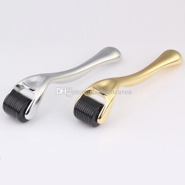 Vendita fabbrica di acciaio inossidabile Dermaroller 540 aghi ago Micro Derma Roller microneedling 540 Pins Dermaroller oro e argento maniglia