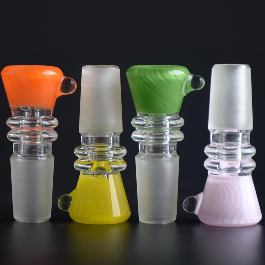 Reversal Color Glass Bowl Heavy and Thick Wall 14mm Macho Joint Tabaco Dry Herb Bowl Northstar Color Rods BestGlass B01