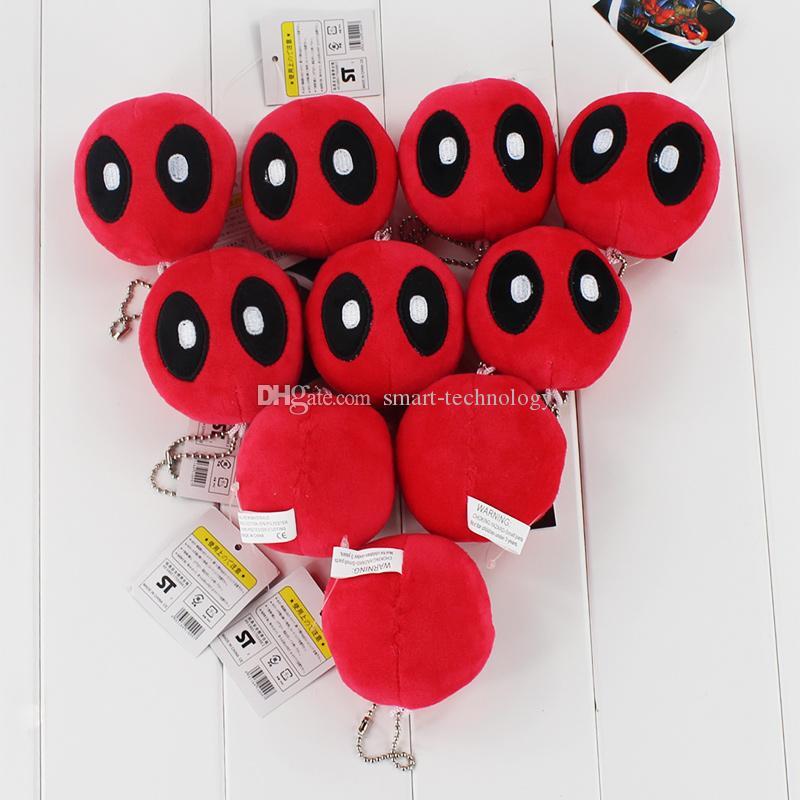 7cm del juguete de la película X-Men Deadpool Llavero bolsa colgante colgantes de felpa suave para el envío libre embroma el regalo del ccsme
