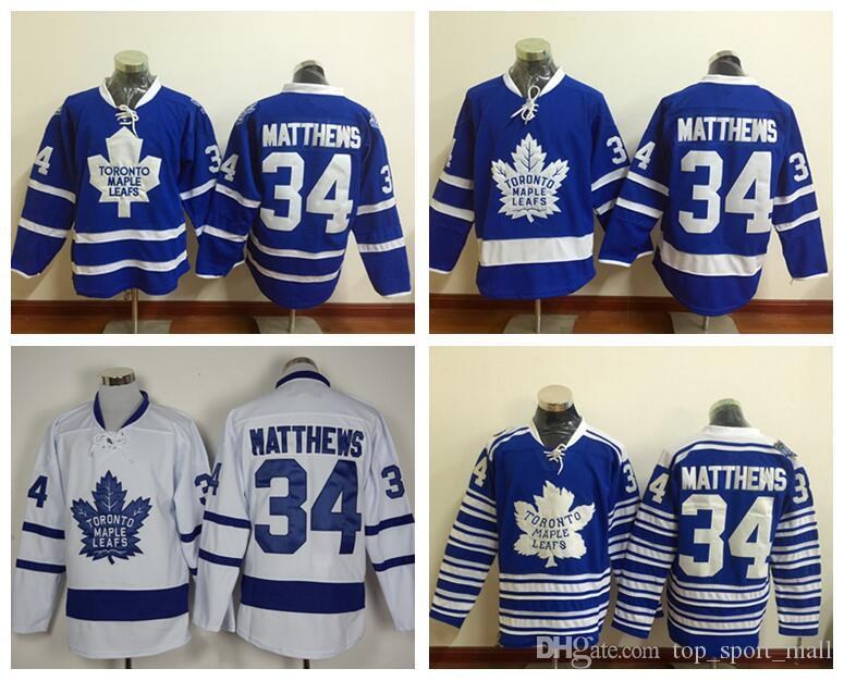 ... 2016 New Draft Toronto Maple Leafs Jersey Blue 34 Auston Matthews Ice  Hockey Jerseys Winter Classic ... 64af01f24fe