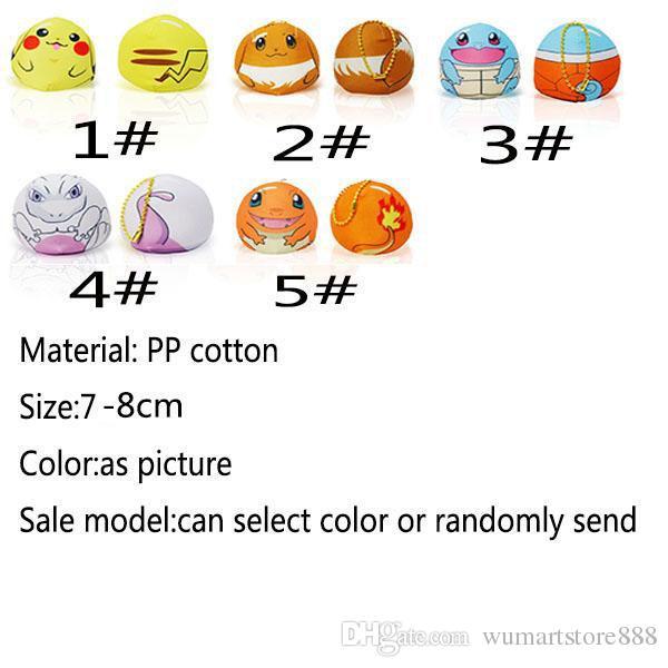 Hot New Poke Pikachu Mewtwo Plush Key Rings Cartoon Figure Handbag Car Cell Phone Pendant Keychain Stuffed Doll Toys Gifts