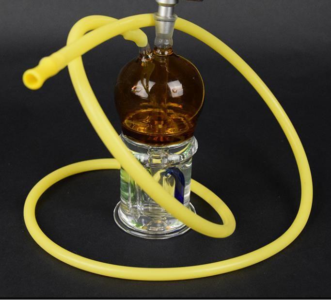 Pote de fumaça de vidro colorido Filtro hookah filtro duplo Cachimbo de água, Tubulações de água, bongos de vidro, vidro Hookahs, cachimbo