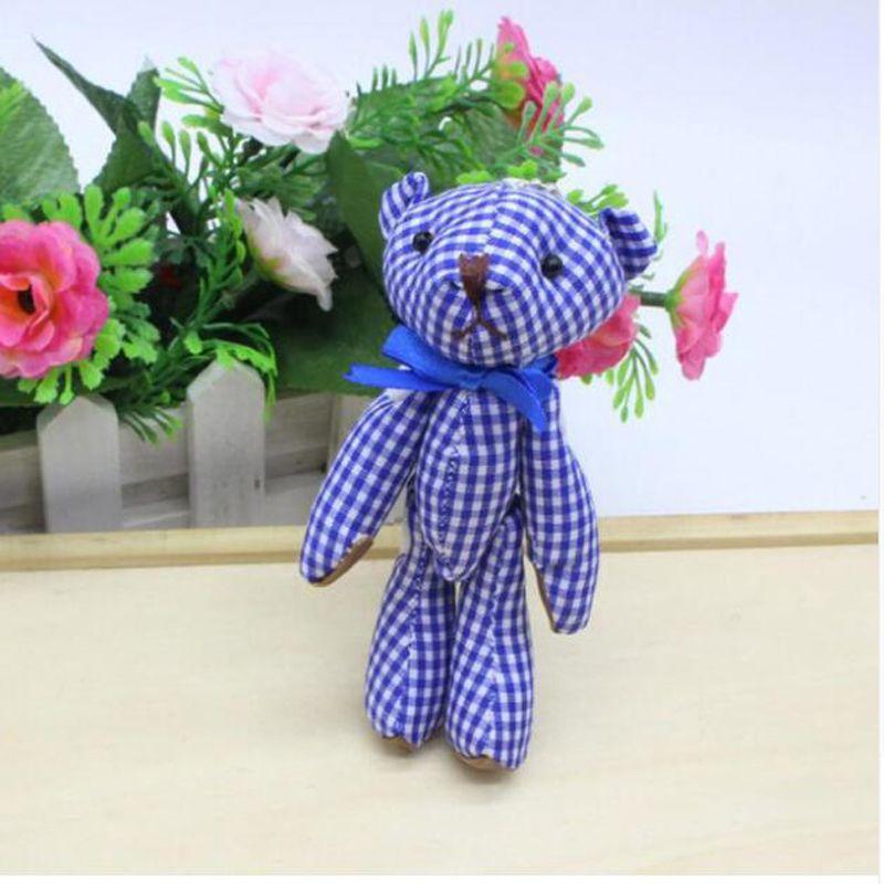 Kawaii Pequeño Osito de Peluche Conjunto Peluche 11 CM Juguete Teddy-Bear Mini Oso Ted Osos Juguetes de Peluche Regalos de Boda 6 Unids / lote 045