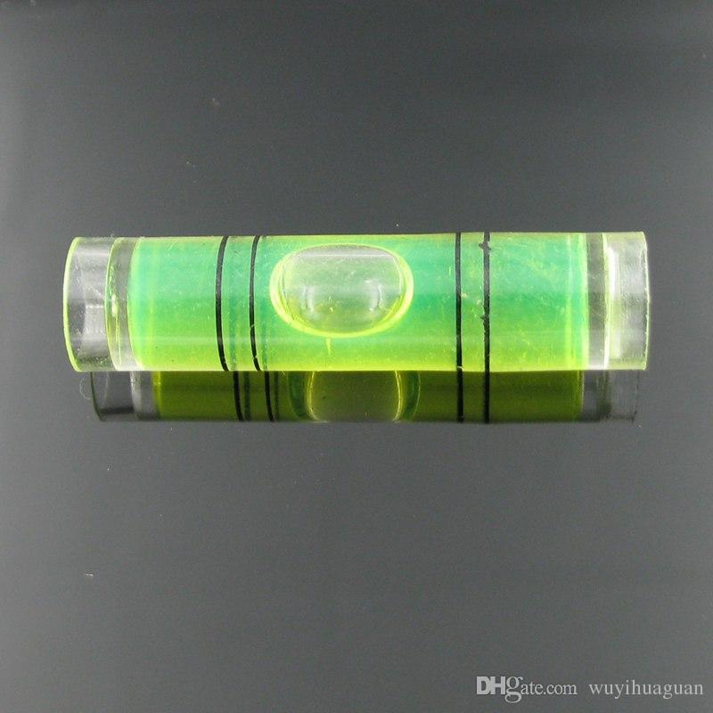 25 قطعة / الكثير 9.5 * 40 ملم البلاستيك أنبوب مستوى فقاعة فقاعة مستوى الروح أربعة ألوان