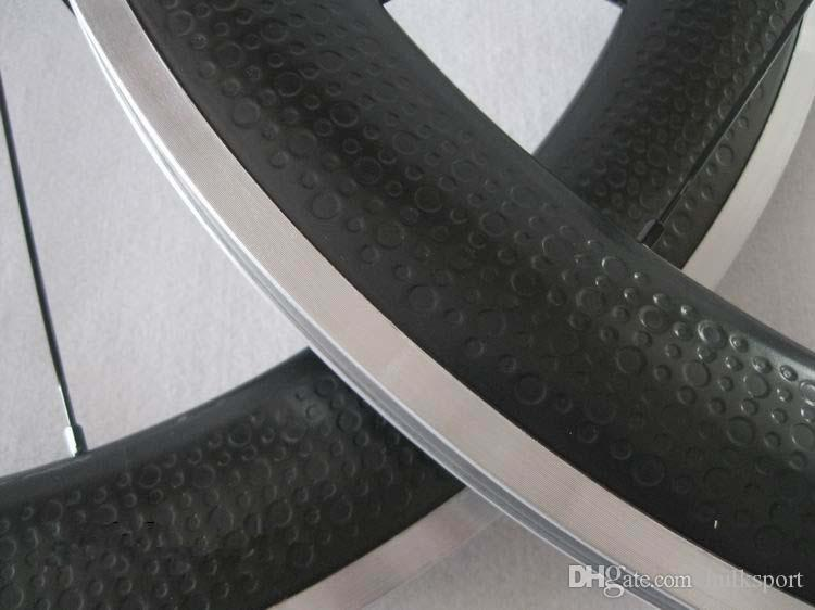 Dimple Surface 50mm Clincher Wheelset with alloy bracking surface Carbon fibre Wheelsets Road Bike Dimples Wheels