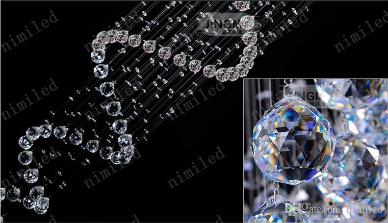 Nimi1004 dia 35-120 cm duplex cristallo scale a spirale lampada lampadario casa soggiorno luci a sospensione hotel hall villa showroom illuminazione