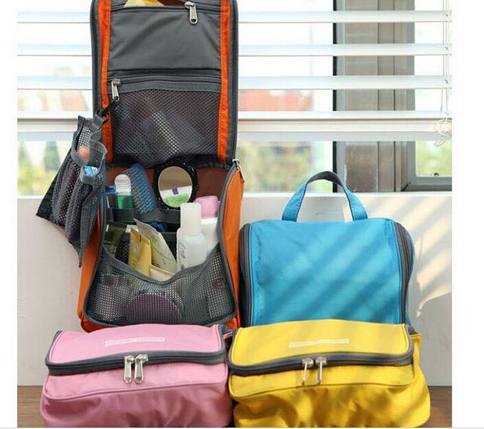 2016 Woman Toiletry Makeup Kit Storage Check Waterproof Cosmetic Bag Picnic Wash handbag Multifunctional Travel Bag Organizer