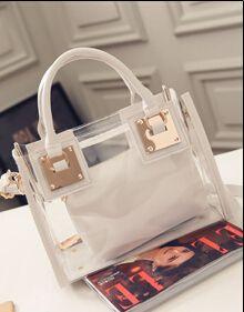 2017 Fashion Handbag+ Shoulder bag New Womens bags Clear Designer Handbags Hottest Totes PU Leather Shoulder bag B04