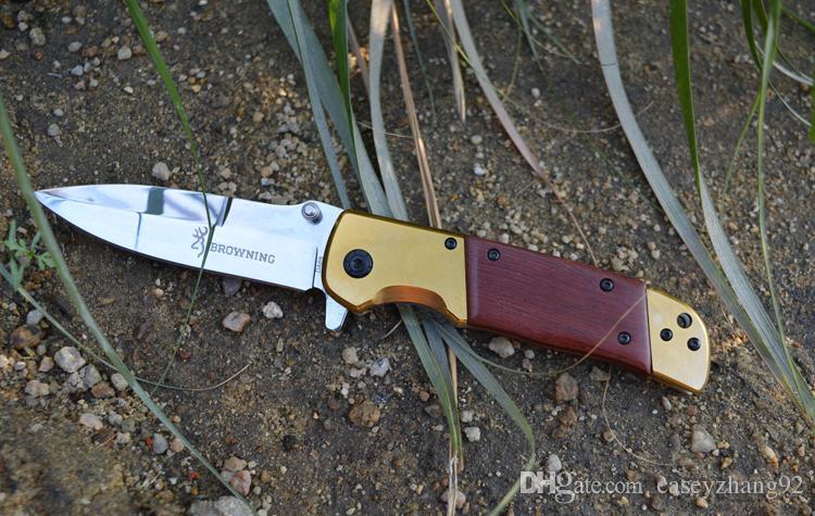 De alta qualidade! Browning DA69 dobrando facas de bolso faca de sobrevivência ao ar livre com embalagem caixa de papel original de varejo
