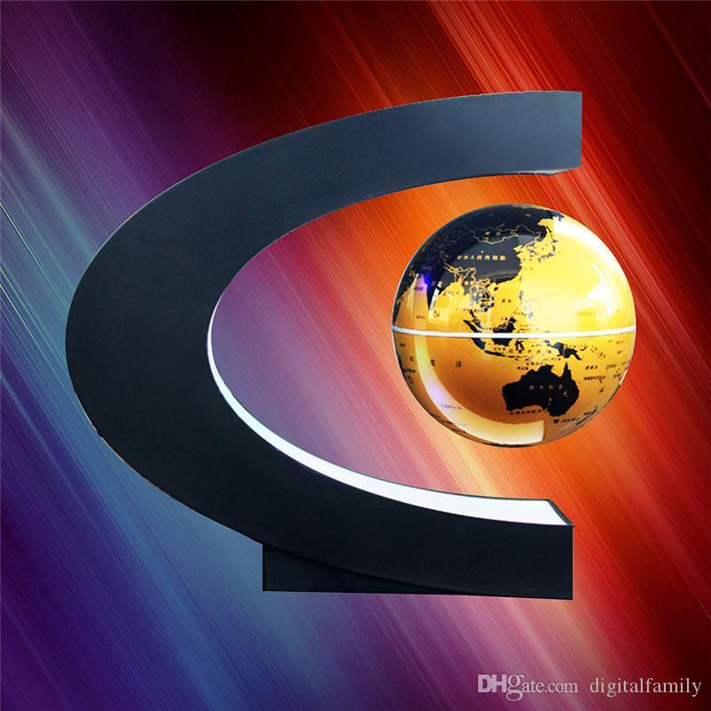 Новизна C Форма LED Карта мира Плавающий глобус магнитной левитации свет Antigravity Magic / Novel лампы День рождения Главная Декабрь ночника