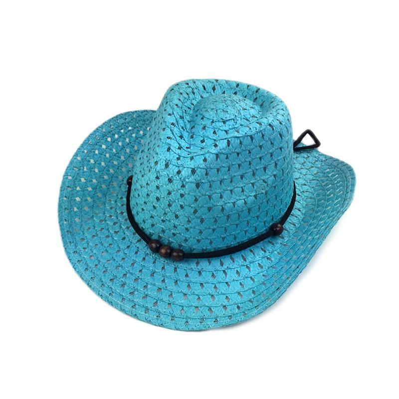 Hollow West Cowboy For Kids Summer Beach Caps Solid Western Cowboy ... 5b1259691b83