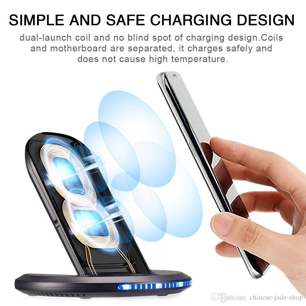 U8 QI Fast Wireless Charger 9V 1.67A for iPhone 8 X galaxy S8 S7 dock mobile phone In retail package