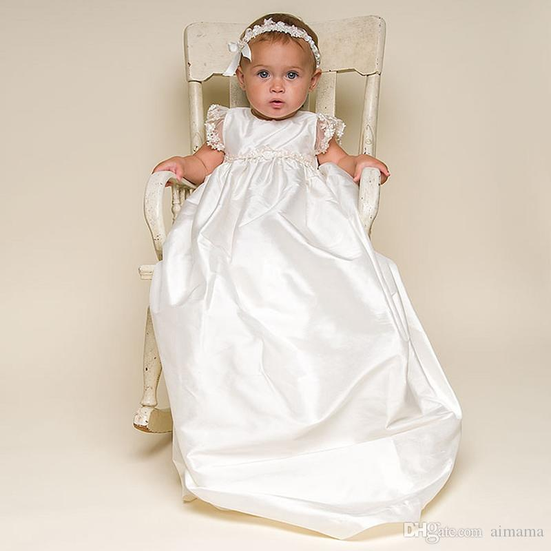 Baby Infant Christening Gowns With Headdress Top Quality 1 Year ...
