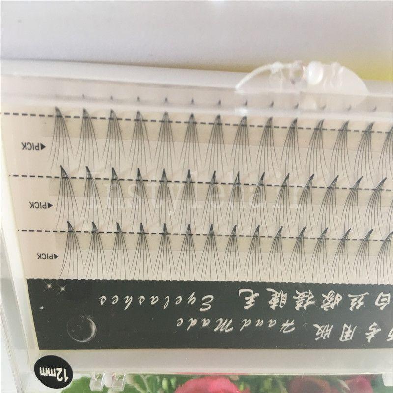 New Natural Long Black Individual False Eyelashes /Cluster Eye Lash Extension Makeup Tool 60 Knots 5 Trays