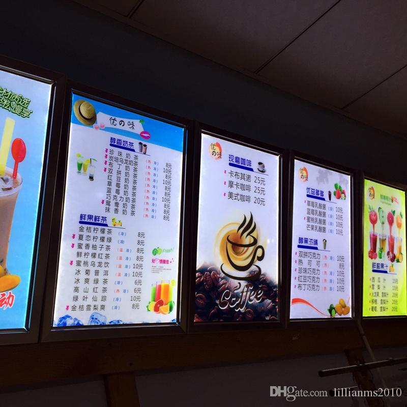 Commercial Lighting Advertising Lights A1 Size Restaurant Led Edge-lit Menu Light Box Advertising Display Aluminum Snap Frame Signage