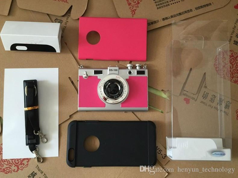 Cajas del teléfono de la resistencia del descenso de la forma de la cámara de la moda para Iphone6 / 6s 4.7