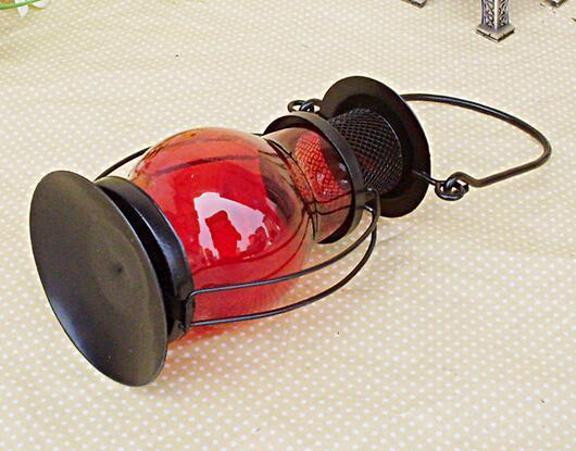 HIÇBIR Mum Moda Sıcak Zakka Demir Şamdan Mumluk Gazyağı alkol lambaları Tatil hediye Ev dekorasyon