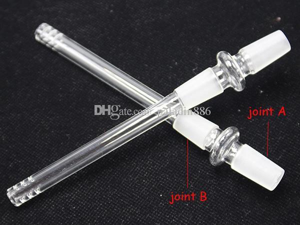 14mm 18mm 14mm 18mm Stecker auf männliches Glas downstem Diffusor downstem Glasrohre bongs Stengel nach unten Dropdown