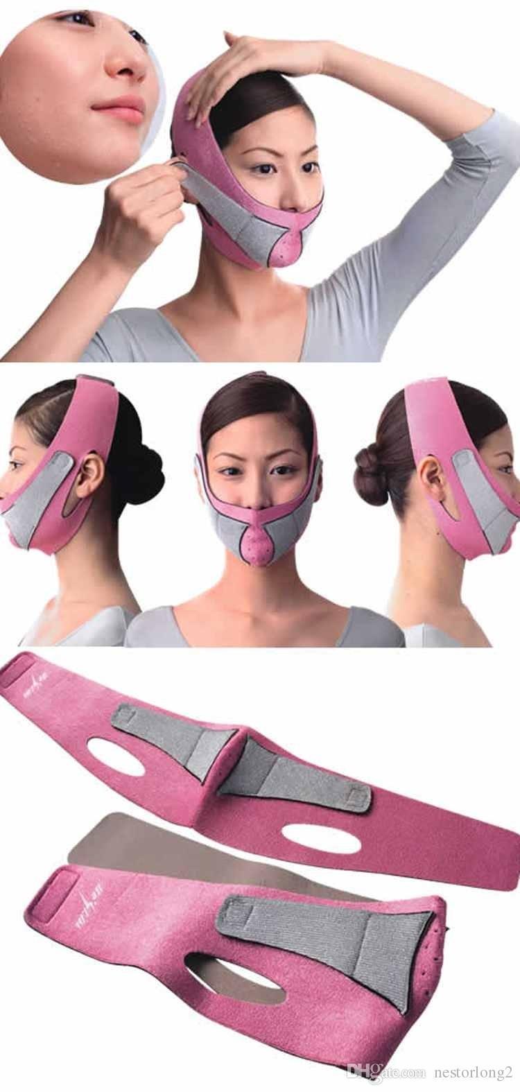 Soins de santé Masque de visage minceur Facial Tête Masseger Bandage de la peau double menton