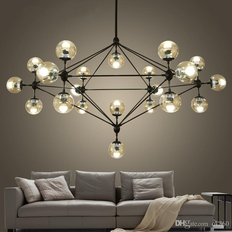 wrought lights loft lamps industrial bar dining chandeliers modern lustres fixtures room meerosee chandelier lighting stair retro product iron